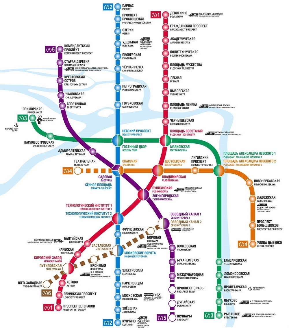 Saint Petersburg Russia Subway Map.St Petersburg Metro Map
