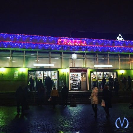 Украшение станций к Новому году
