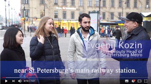 Козин Е.В. со студентами-иностранцами проверили готовность метрополитена к приему гостей на ЧМ-2018