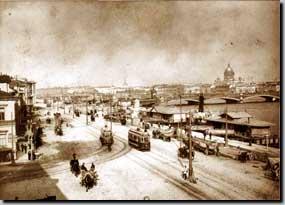 вид на Николаевскую набережную в начале 20 века