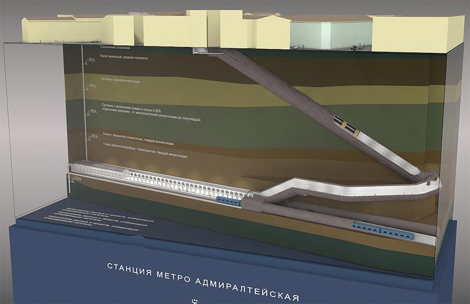 """макет станции""""Адмиралтейская"""""""