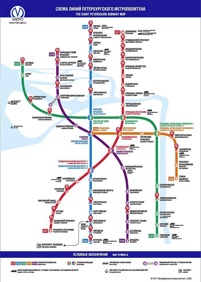 схема метро с передвижными прививочными пунктами