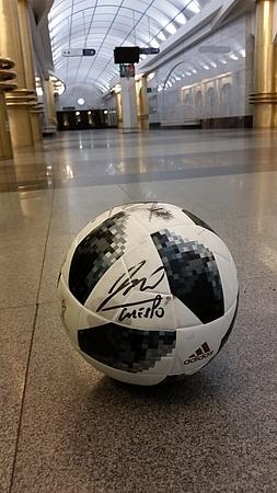 Мячь с автографами