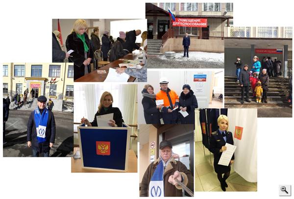 Сотрудники метро на избирательных участках