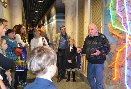 Экскурсия по Интерактивному центру истории метрополитена для авторов-победителей конкурса